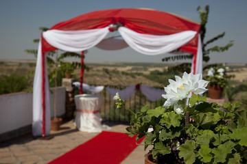 tent for carrying out wedding ceremonies in Spain