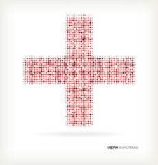 Cross with halftone pattern
