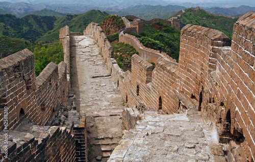 Deurstickers Chinese Muur Great Wall of China in Summer