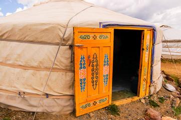 Mongolian yurt (ger) exterior