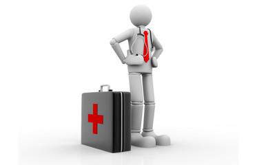 Men with medical case.