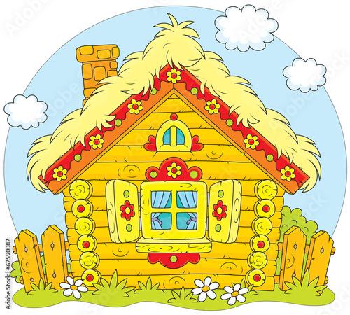 Fotobehang Boerderij Rustic log house