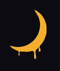 melting crescent. vector