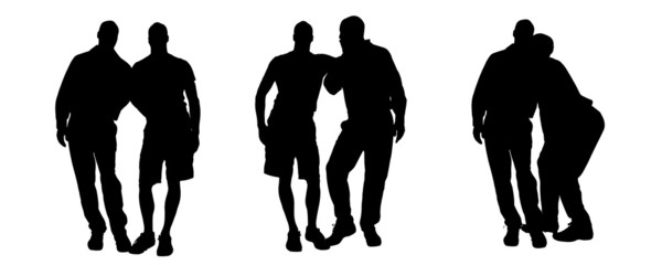 Vector silhouette of homosexual.