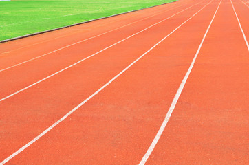 Rubber standard of athletics stadium running track