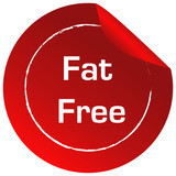 A fat free label