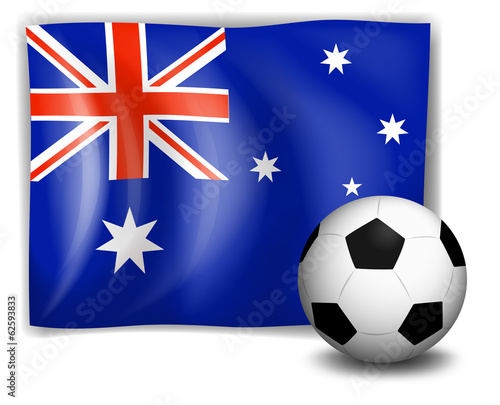 A ball and the Australian flag