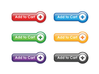 """""""ADD TO CART"""" BUTTONS (e-shopping order buy now my basket icons)"""