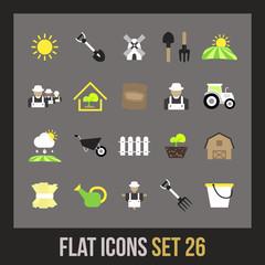 Flat icons set 26