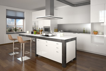 3D - Moderne Küche (III)