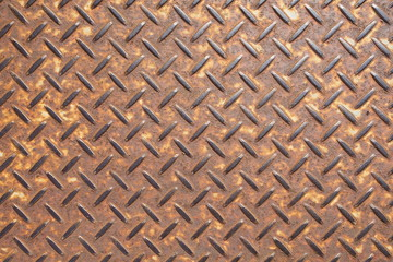 Background of old brown metal plate