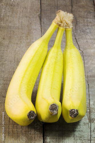 banana bunch on wood
