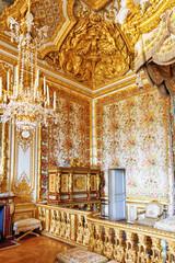 Interior of Queen's bedroom  in Chateau of Versailles, Paris, Fr