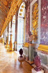 Interior Chateau of Versailles,Mirrored Ballroom , Paris, France