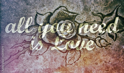 All You Need is Love on stone rose