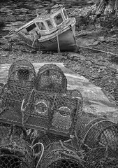 Old Fishing Boat and Creels, Scotland