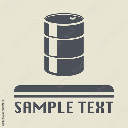 Oil Barrel icon or sign, vector illustration
