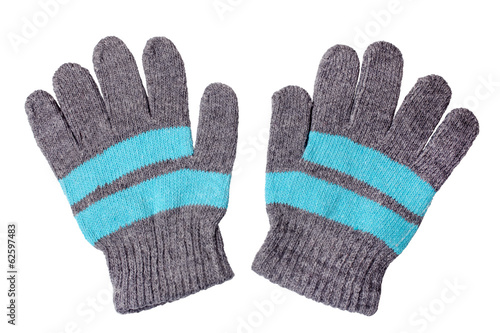 Warm woolen knitted gloves