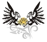 Eagle symbol with leopard head