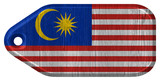 Malaysia flag painted on wooden tag