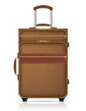 suitcase for travel vector illustration