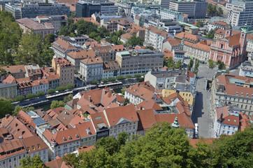 Foto aerea di Lubiana, Slovenia 3