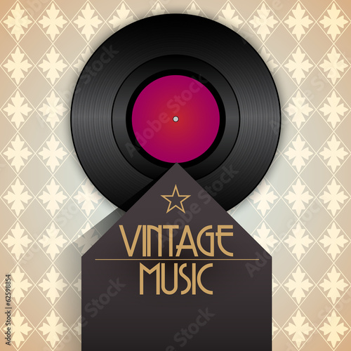 Vector retro vinyl music event poster