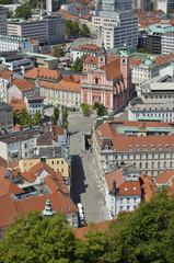 Foto aerea di Lubiana, Slovenia 2