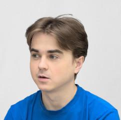 Handsome guy looking left