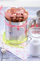Birnenkuchen, schokokuchen, schokoladenkuchen