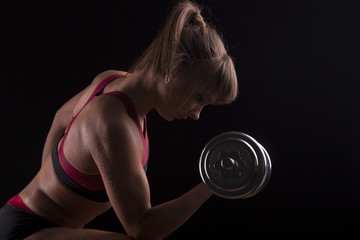 The body sports an attractive woman