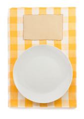 plate at napkin