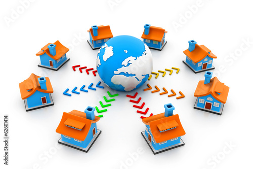 Homes on a global network