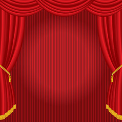 red stage curtain spot