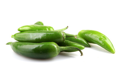 Green Jalapeno Pepper Isolated On White