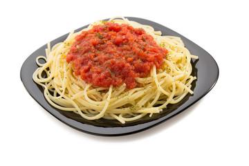 pasta spaghetti macaroni on white