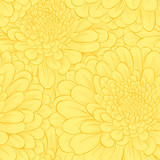 Beautiful seamless pattern with hand-drawn flowers.