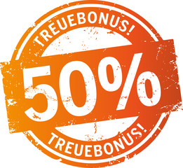 Treuebonus Button 50%