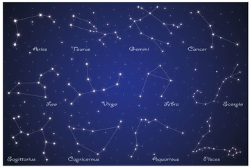 12 Zodiac constellations