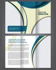 Vector empty trifold brochure print template design