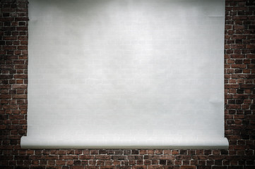 wall and paper background
