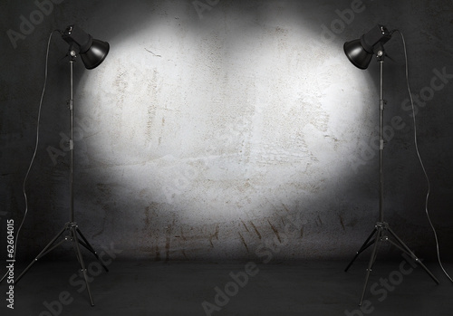 photo studio in old grunge room