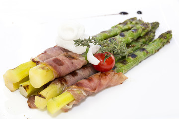 asparagus and bacon grilled veggies