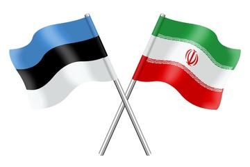 Flags: Estonia and Iran