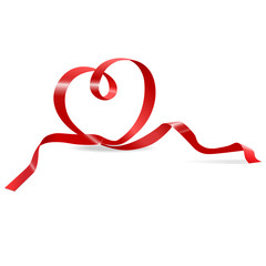heart of red ribbon