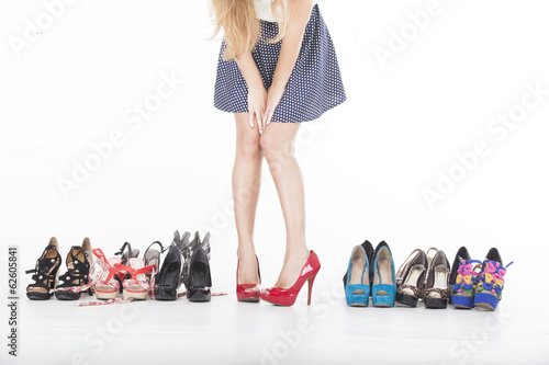 canvas print picture high heels and shoes