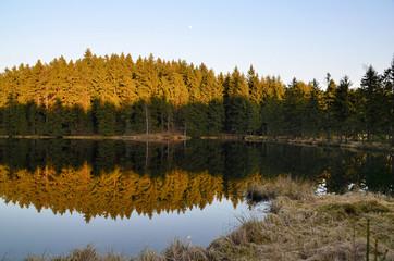 See Herbst Sonne Abend