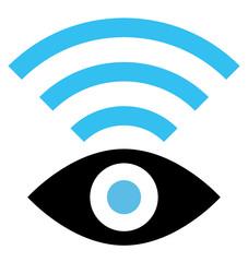 Spy WiFi vector icon