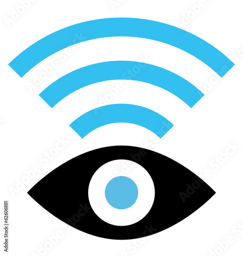 Spy WiFi vector icon