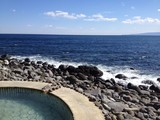 Hot spring near the ocean